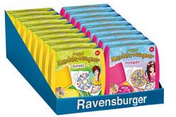 Ravensburger Mandala Designer Mini horses 29986, Zeichnen lernen für Kinder ab 6 Jahren, Zeichen-Set mit Mandala-Schablone für farbenfrohe Mandalas