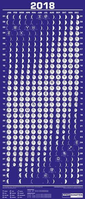 Mini-Mondphasenkalender 2018 von Liggenstorfer,  Roger