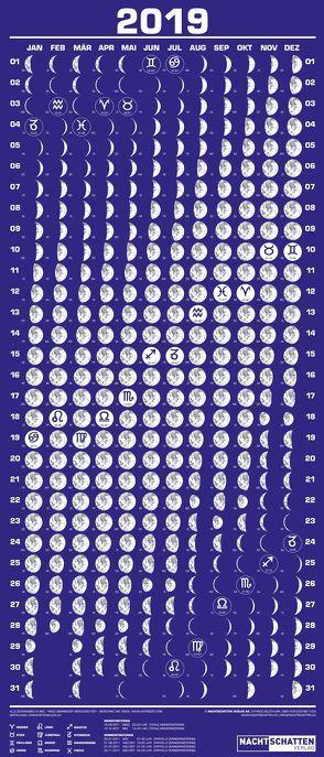 Mini-Mondphasenkalender 2019 von Liggenstorfer,  Roger