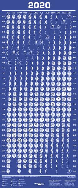 Mini-Mondphasenkalender 2020 von Liggenstorfer,  Roger