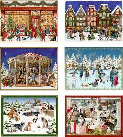 Miniatur-Adventskalender-Sortiment – Fröhliche Adventszeit von Behr,  Barbara