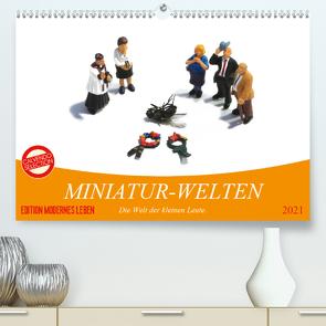 MINIATUR-WELTEN (Premium, hochwertiger DIN A2 Wandkalender 2021, Kunstdruck in Hochglanz) von Thiele,  Karsten