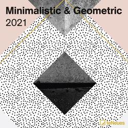 Minimalistic & Geometric 2021 – Wand-Kalender – Broschüren-Kalender – 30×30 – 30×60 geöffnet