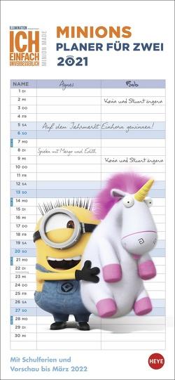 Minions Planer für zwei Kalender 2021 von Heye