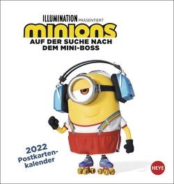 Minions Postkartenkalender 2022 von Heye