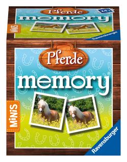 Ravensburger Minis – 24556 Pferde memory® – Der Kinderspiel Klassiker ab 3 Jahren, Gedächtnisspiel für 2-4 Spieler, Pferde Geschenk