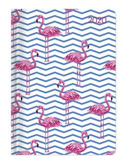 Minitimer Style Flamingos 2020 – Taschenplaner – Taschenkalender A6 – Weekly – 192 Seiten – Terminplaner – Notizbuch von ALPHA EDITION