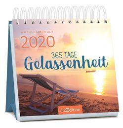 Miniwochenkalender 365 Tage Gelassenheit 2020 – kleiner Aufstellkalender mit Wochenkalendarium
