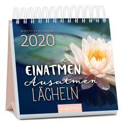 Miniwochenkalender Einatmen. Ausatmen. Lächeln. 2020 – kleiner Aufstellkalender mit Wochenkalendarium