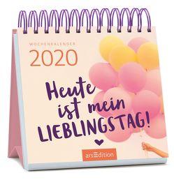 Miniwochenkalender Heute ist mein Lieblingstag 2020 – kleiner Aufstellkalender mit Wochenkalendarium