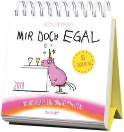 Mir doch egal – Wunderbare Einhornweisheiten – Postkartenkalender 2019 von Holzach,  Alexander