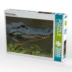 Missisippi Alligator 2000 Teile Puzzle quer von Wilczek,  Dieter-M.