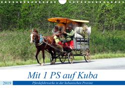 Mit 1 PS auf Kuba – Pferdefuhrwerke in der kubanischen Provinz (Wandkalender 2019 DIN A4 quer) von von Loewis of Menar,  Henning