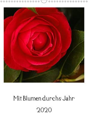 Mit Blumen durchs Jahr (Wandkalender 2020 DIN A3 hoch) von Scholz,  Traude