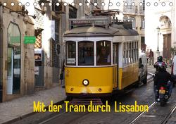 Mit der Tram durch Lissabon (Tischkalender 2021 DIN A5 quer) von Löwe,  Karsten