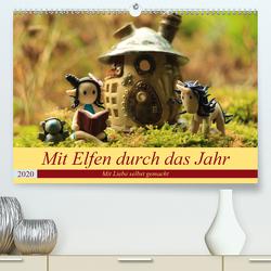Mit Elfen durch das Jahr (Premium, hochwertiger DIN A2 Wandkalender 2020, Kunstdruck in Hochglanz) von Doberstein,  Judith