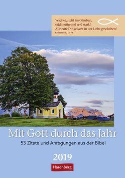 Mit Gott durch das Jahr – Kalender 2019 von Beckmann,  Ulrike, Harenberg