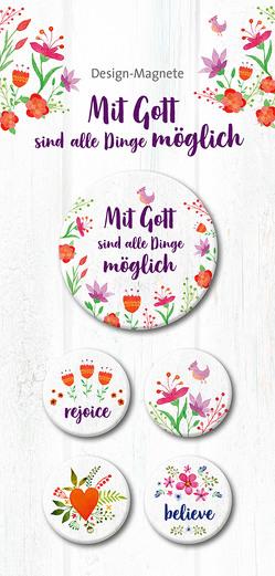 Mit Gott sind alle Dinge möglich – 5-er-Magnet-Set