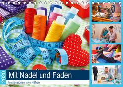 Mit Nadel und Faden 2020. Impressionen vom Nähen (Tischkalender 2020 DIN A5 quer) von Lehmann (Hrsg.),  Steffani
