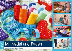 Mit Nadel und Faden 2020. Impressionen vom Nähen (Wandkalender 2020 DIN A4 quer) von Lehmann (Hrsg.),  Steffani