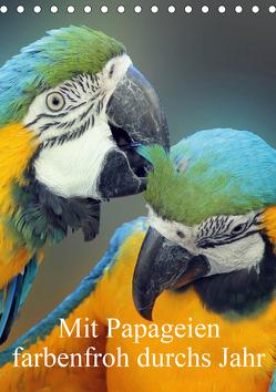 Mit Papageien farbenfroh durchs Jahr (Tischkalender 2020 DIN A5 hoch) von Bönner,  Marion