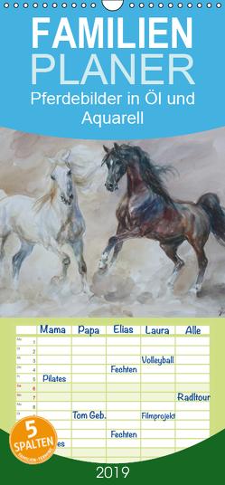 Mit Pferden durch die Jahreszeiten – Pferdebilder in Öl und Aquarell – Familienplaner hoch (Wandkalender 2019 , 21 cm x 45 cm, hoch) von Aniszewski,  Zenon