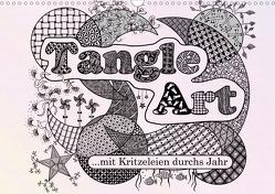 Mit Tangle-Art durchs Jahr (Wandkalender 2021 DIN A3 quer) von janne