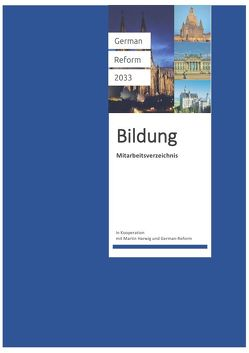 Mitarbeitsverzeichnis für Schüler von Harwig,  Martin