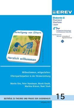 Mitbestimmen,mitgestalen: Elternpartizipation in der Heimerziehung von Gies,  Martin, Hansbauer,  Peter, Knuth,  Nicole, Kriener,  Martina, Stork,  Remi