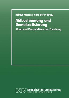Mitbestimmung und Demokratisierung von Martens,  Helmut