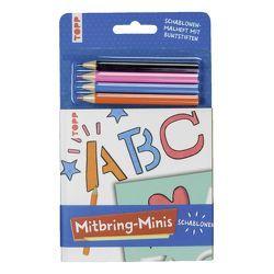 Mitbring-Minis Schablonen-Malheft mit Buntstiften von frechverlag