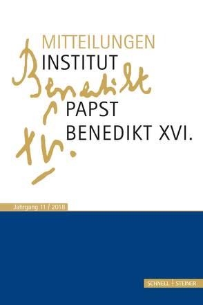 Mitteilungen Institut-Papst-Benedikt XVI. von Vorderholzer,  Rudolf