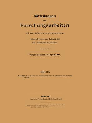 Mitteilungen über Forschungsarbeiten insbesondere aus den Laboratorien der technischen hochschulen von Hochschild,  Heinrich