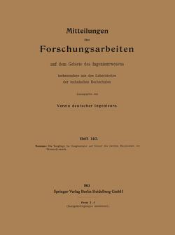 Mitteilungen über Forschungsarbeiten auf dem Gebiete des Ingenieurwesens von Neumann,  Kurt