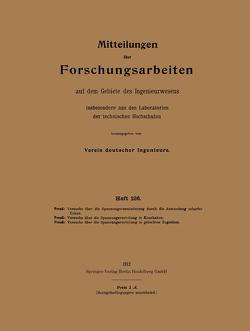 Mitteilungen über Forschungsarbeiten aus dem Gebiete des Ingenieurwesens von Preuss,  Ernst