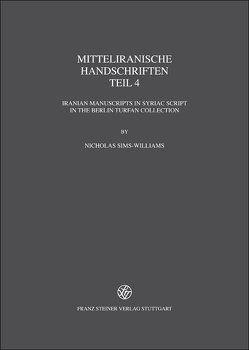 Mitteliranische Handschriften von Sims-Williams,  Nicholas