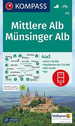 Mittlere Alb, Münsinger Alb von KOMPASS-Karten GmbH