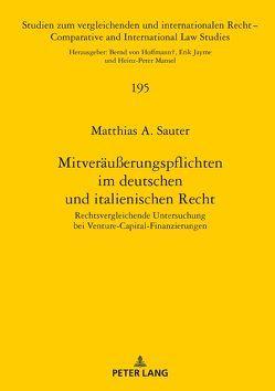Mitveräußerungspflichten im deutschen und italienischen Recht von Sauter,  Matthias A.