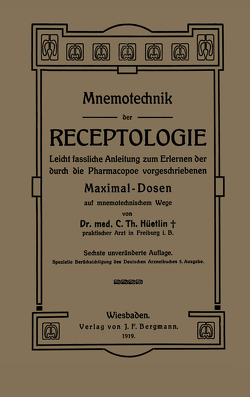 Mnemotechnik der Receptologie von Hüetlin,  NA