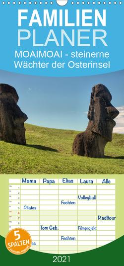 MOAI – steinerne Wächter der Osterinsel – Familienplaner hoch (Wandkalender 2021 , 21 cm x 45 cm, hoch) von Hartmann,  Carina
