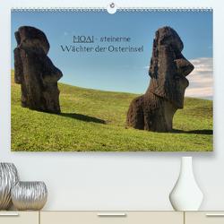 MOAI – steinerne Wächter der Osterinsel (Premium, hochwertiger DIN A2 Wandkalender 2020, Kunstdruck in Hochglanz) von Hartmann,  Carina