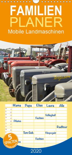 Mobile Landmaschinen – Familienplaner hoch (Wandkalender 2020 , 21 cm x 45 cm, hoch) von Jordan,  Diane