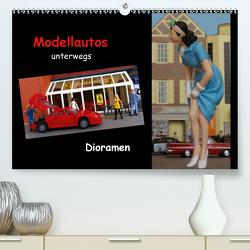 Modellautos unterwegs – Dioramen (Premium, hochwertiger DIN A2 Wandkalender 2021, Kunstdruck in Hochglanz) von kapeha