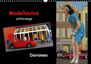 Modellautos unterwegs – Dioramen (Wandkalender 2021 DIN A3 quer) von kapeha
