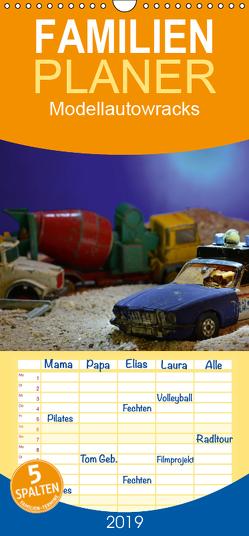 Modellautowracks – Familienplaner hoch (Wandkalender 2019 , 21 cm x 45 cm, hoch) von Laue,  Ingo