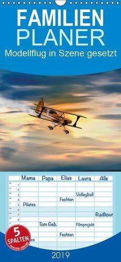 Modellflug in Szene gesetzt – Familienplaner hoch (Wandkalender 2019 <strong>21 cm x 45 cm</strong> hoch) von Gödecke,  Dieter