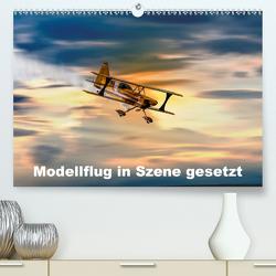 Modellflug in Szene gesetzt (Premium, hochwertiger DIN A2 Wandkalender 2020, Kunstdruck in Hochglanz) von Gödecke,  Dieter