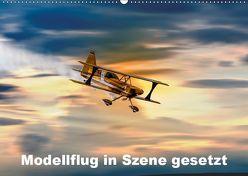 Modellflug in Szene gesetzt (Wandkalender 2019 DIN A2 quer) von Gödecke,  Dieter
