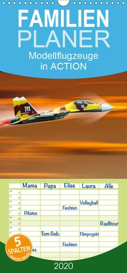 Modellflugzeuge in ACTION – Familienplaner hoch (Wandkalender 2020 , 21 cm x 45 cm, hoch) von Gödecke,  Dieter