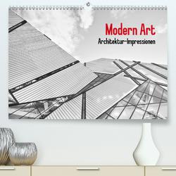 Modern Art. Architektur-Impressionen (Premium, hochwertiger DIN A2 Wandkalender 2021, Kunstdruck in Hochglanz) von Stanzer,  Elisabeth
